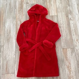 GAP red hooded bear ears robe size 5